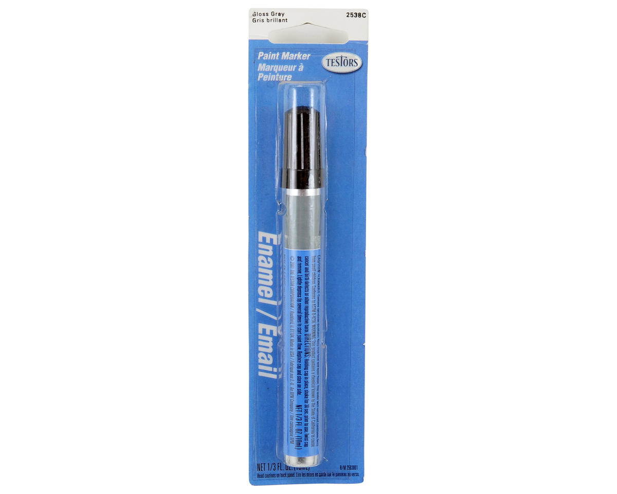 Gloss Enamel Paint Marker (Gray) (10ml) by Testors