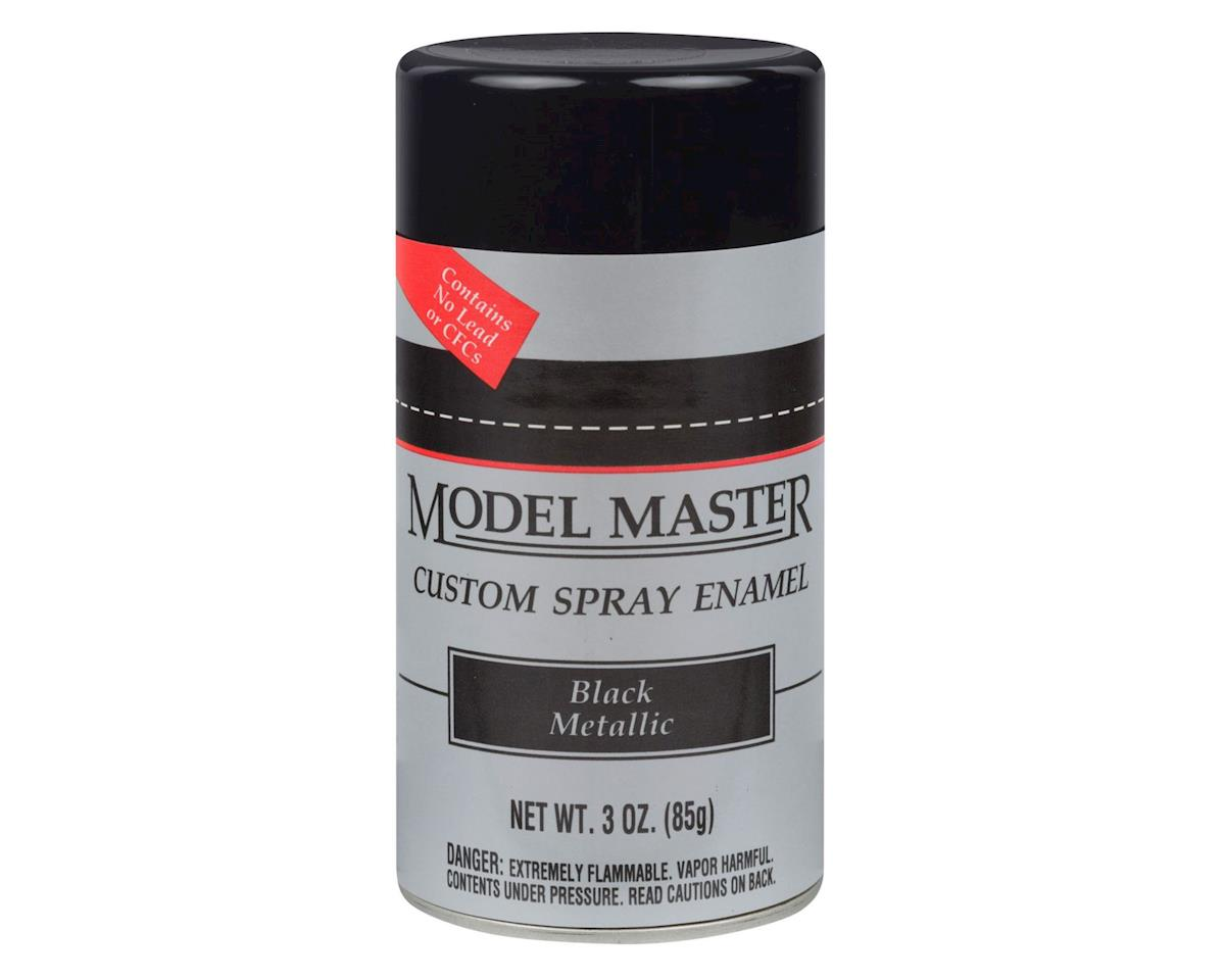 Testors MM Car Spray Black Metallic