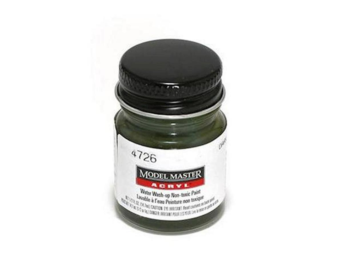 Testors Acryl Flat 1/2oz Dark Green