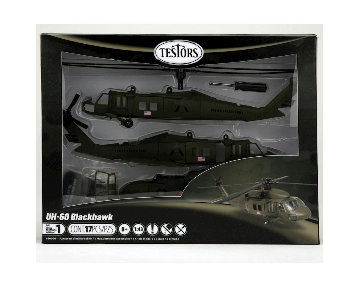 1/60 UH-60 Black Hawk Helicoptor, Skill 1 by Testors