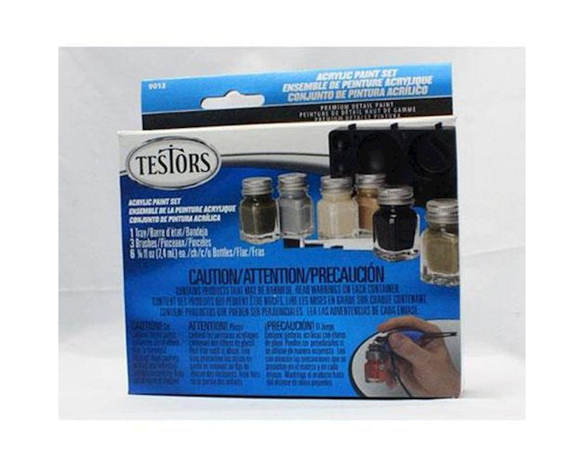 1/4oz, Acrylic Set , 6pk,  Camo Colors by Testors