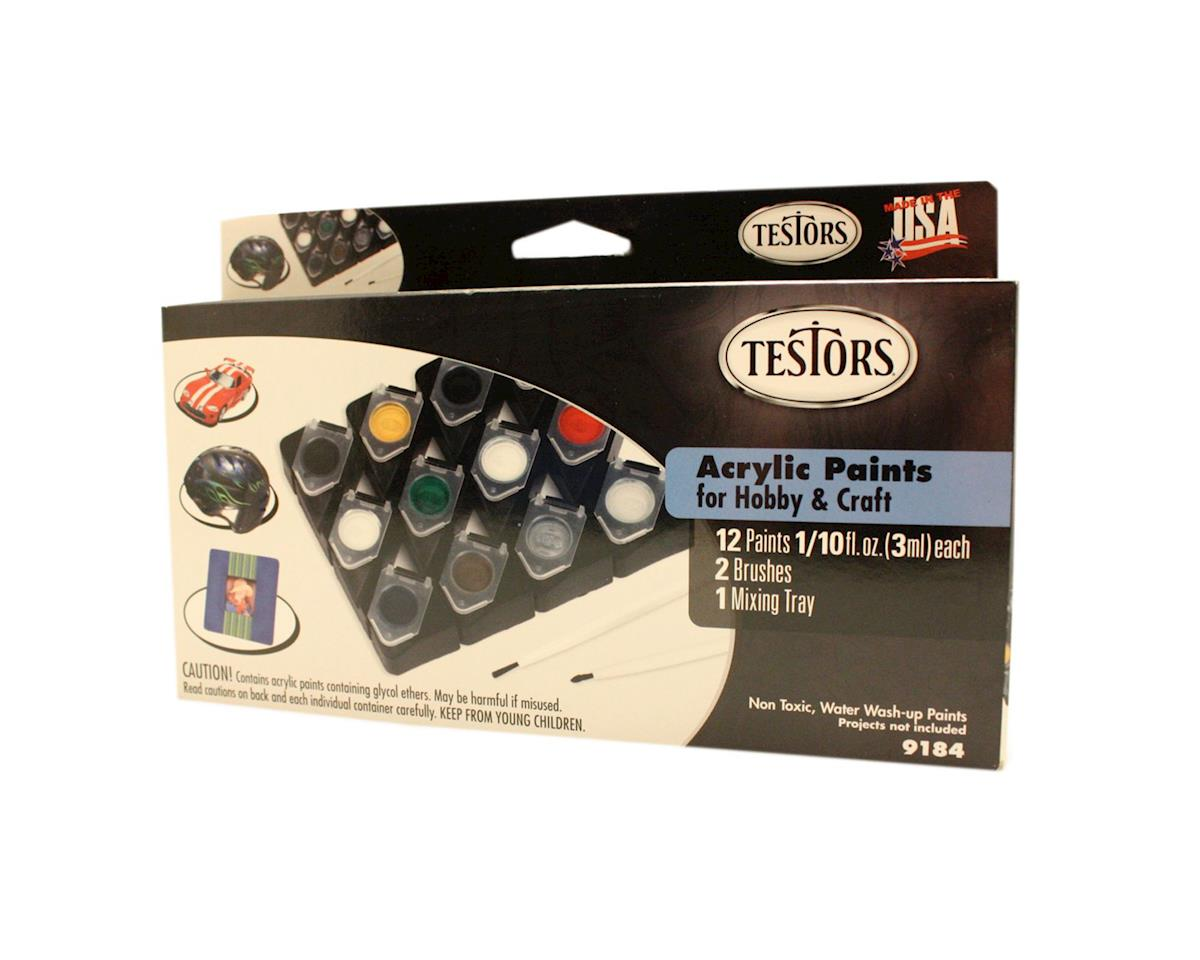 Testors Hobby Craft 12 Pot Set