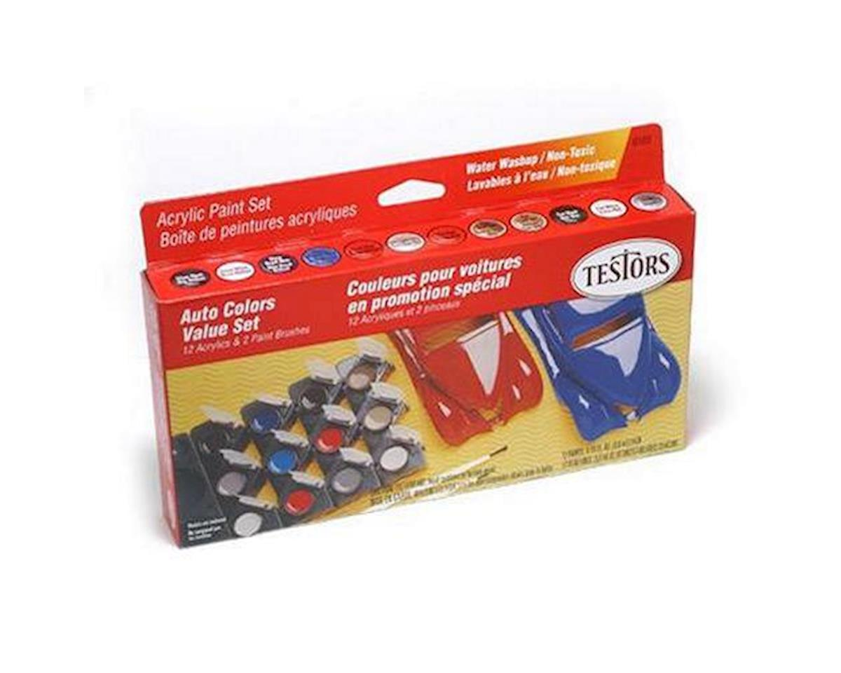Testors Model Car 12 Pot Paint Set