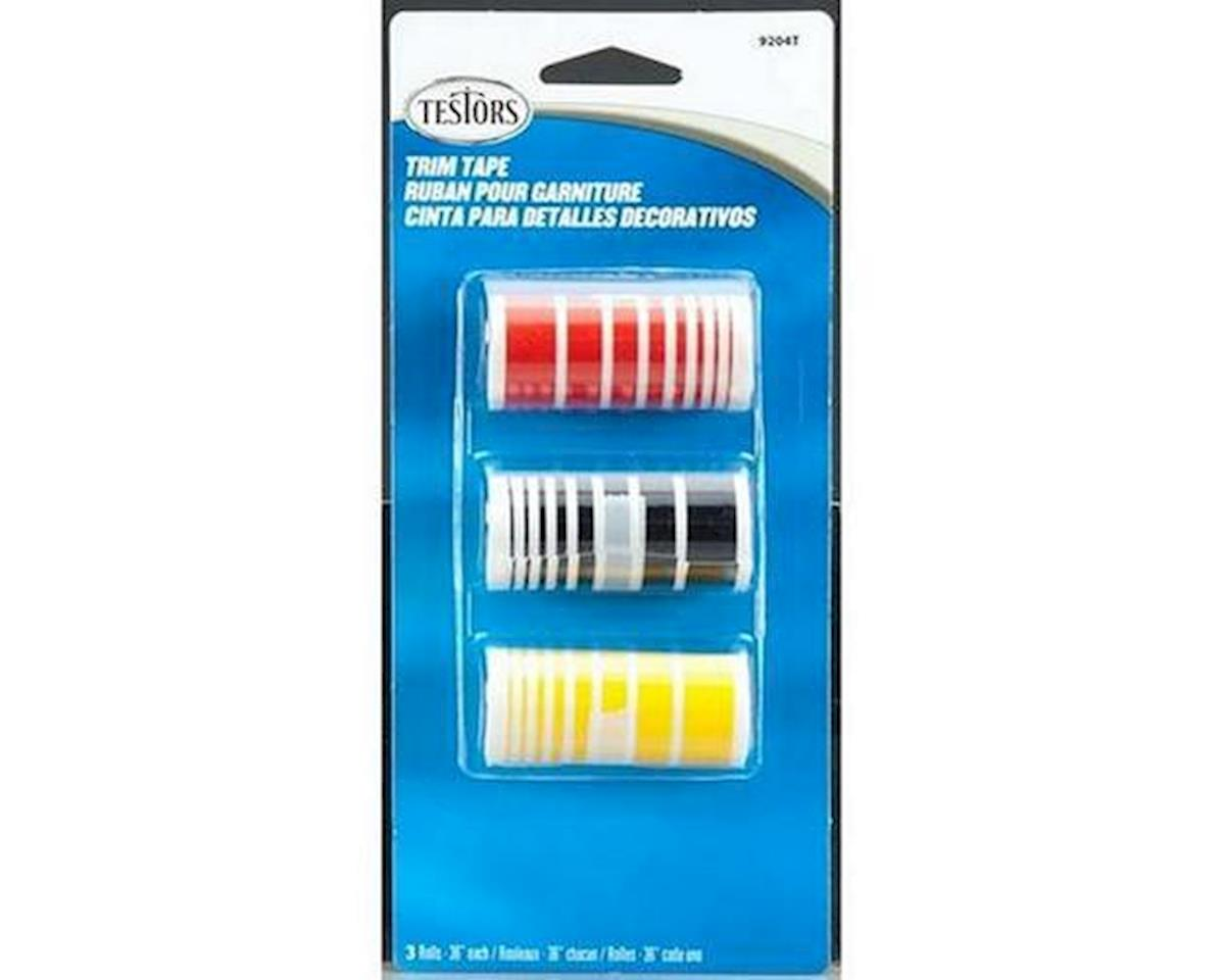 Testors Trim Tape Set Black/Red/Gold (3)