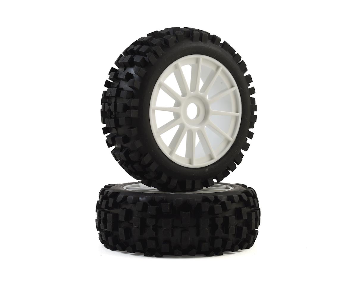 THS Racing B82H-S Pre-Mounted 1/8 Buggy Tires (White) (2) (Hard)