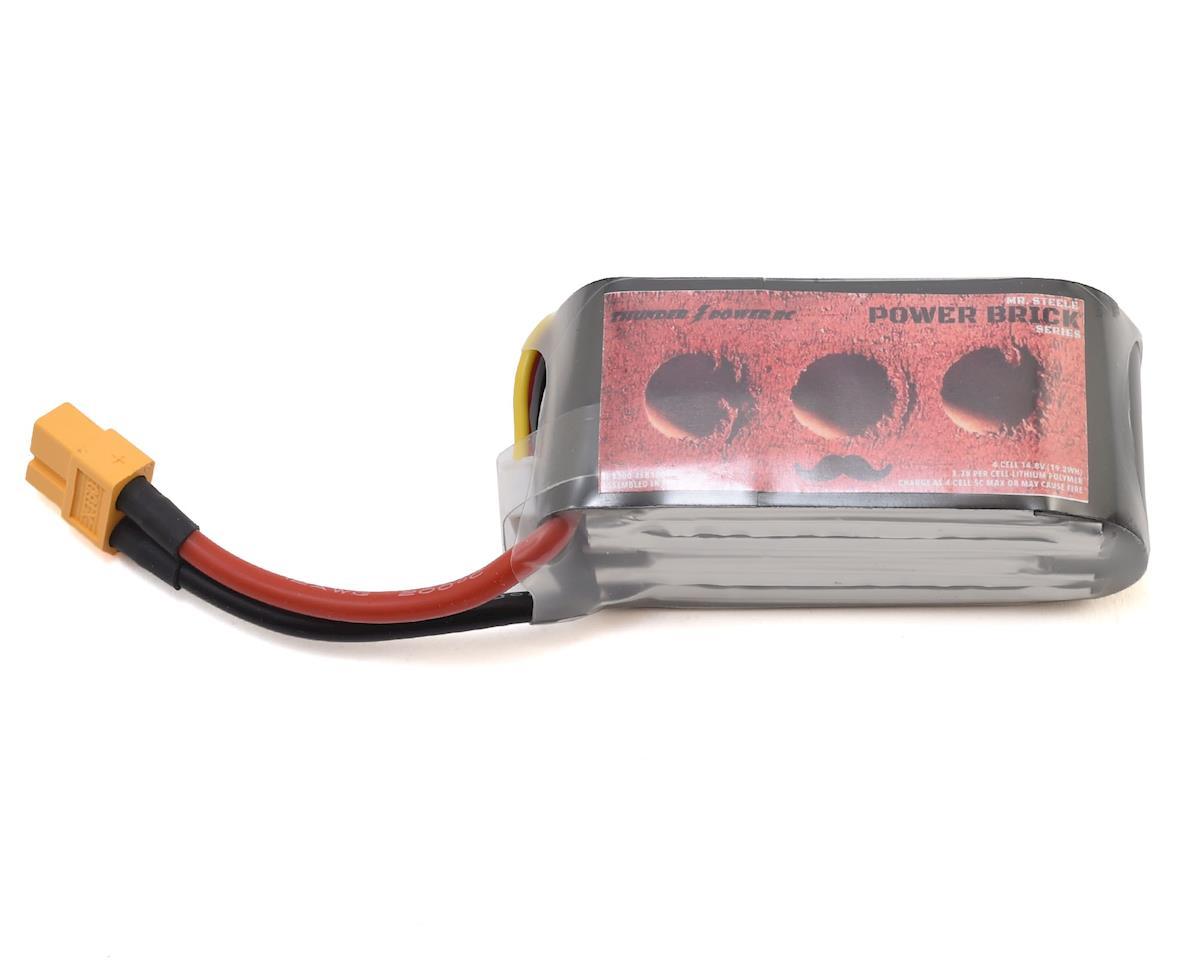 4S Steele Power Brick 100C Lipo Battery (14.8V/1300mAh) by Thunder Power