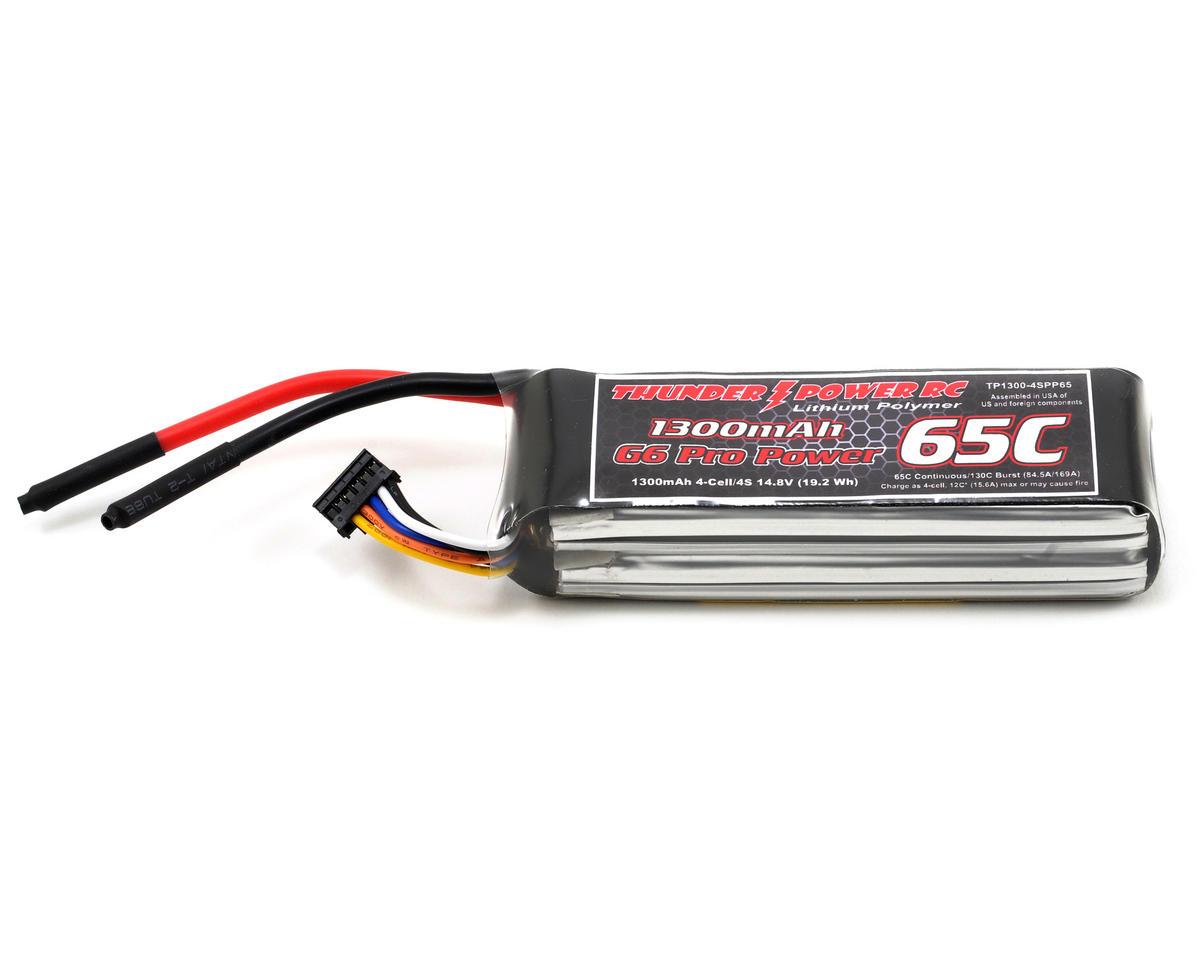 "Thunder Power Pro Power ""G6"" 4S Li-Poly Battery 65C (14.8V/1300mAh)"