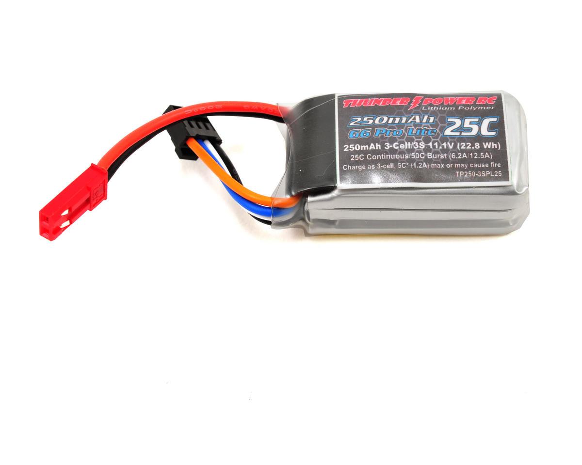 """Thunder Power Pro Lite """"G6"""" 3S Li-Poly Battery 25C (11.1V/250mAh) (JST)"""