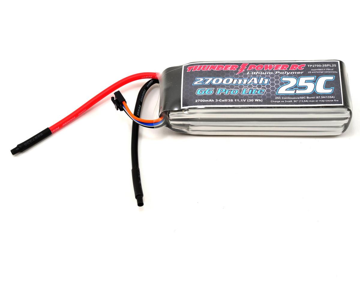 """Thunder Power Pro Lite """"G6"""" 3S Li-Poly Battery 25C (11.1V/2700mAh)"""