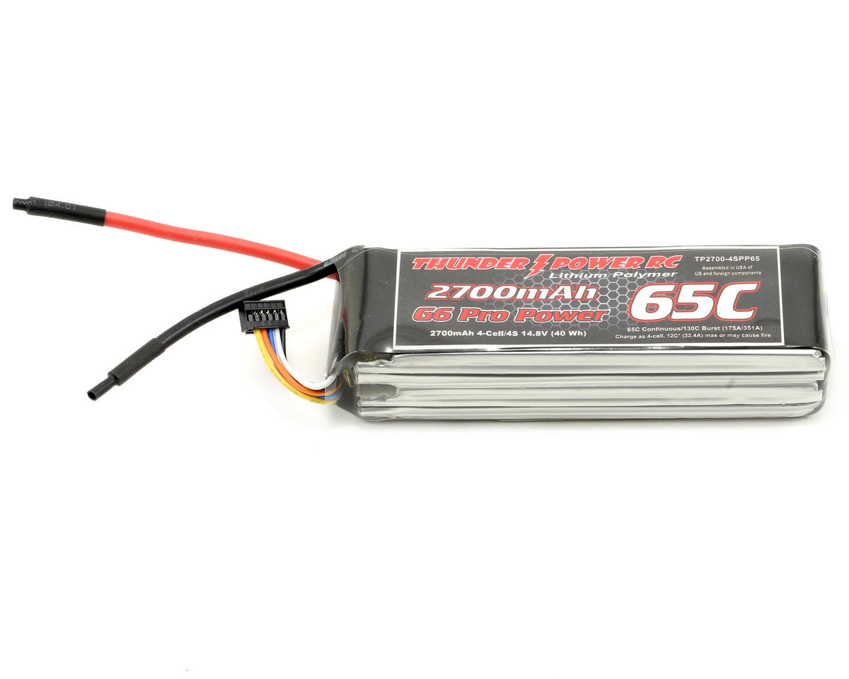 "Thunder Power Pro Power ""G6"" 4S Li-Poly Battery 65C (14.8V/2700mAh)"