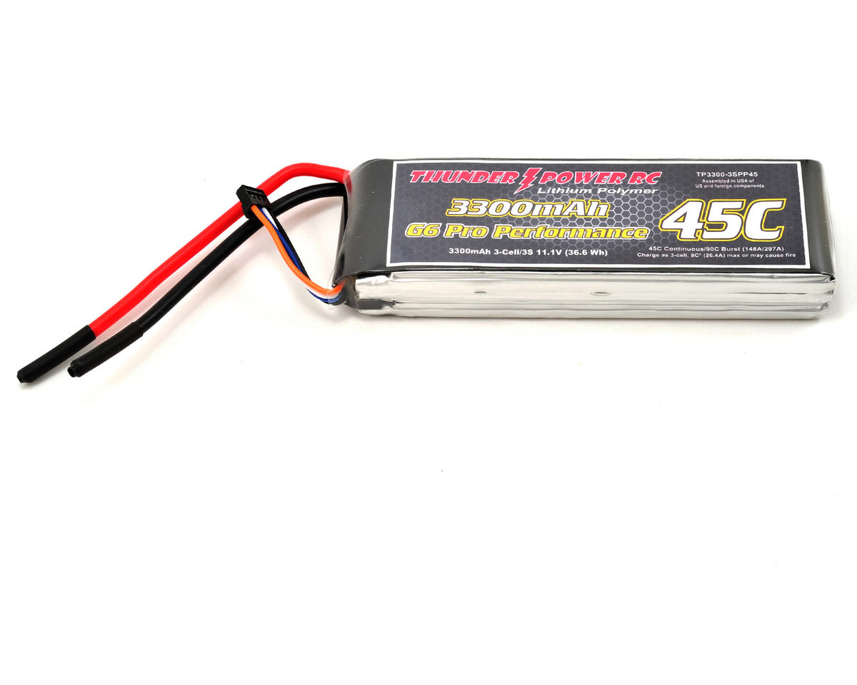 "Thunder Power Pro Performance ""G6"" 3S Li-Poly Battery 45C (11.1V/3300mAh)"
