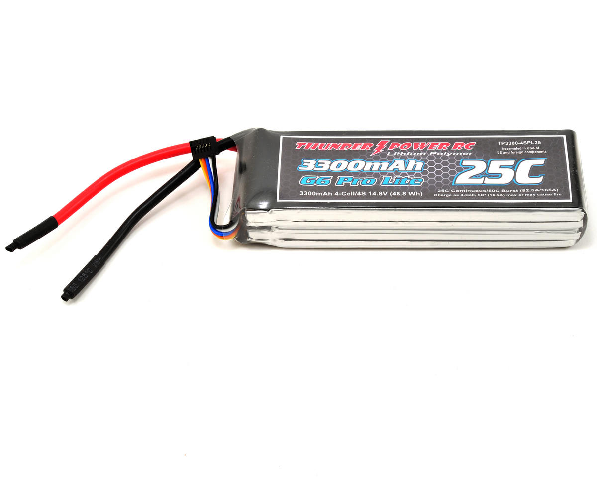 "Thunder Power Pro Lite ""G6"" 4S Li-Poly Battery 25C (14.8V/3300mAh)"