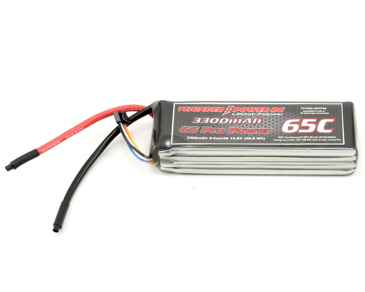"Thunder Power Pro Power ""G6"" 4S Li-Poly Battery 65C (14.8V/3300mAh)"
