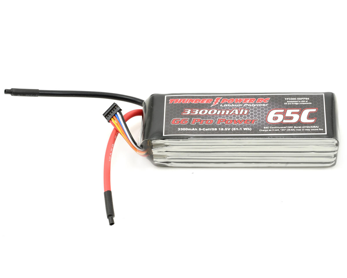 "Thunder Power Pro Power ""G6"" 5S Li-Poly Battery 65C (18.5V/3300mAh)"