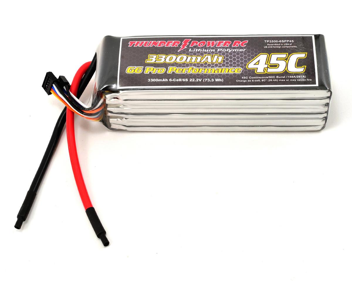 "Thunder Power Pro Performance ""G6"" 6S Li-Poly Battery 45C (22.2V/3300mAh)"