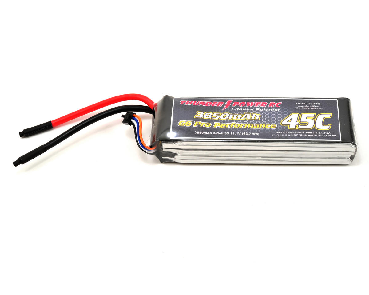 "Thunder Power Pro Performance ""G6"" 3S Li-Poly Battery 45C (11.1V/3850mAh)"