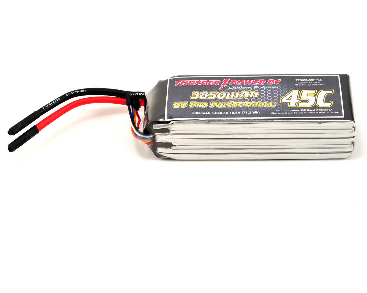 "Thunder Power Pro Performance ""G6"" 5S Li-Poly Battery 45C (18.5V/3850mAh)"