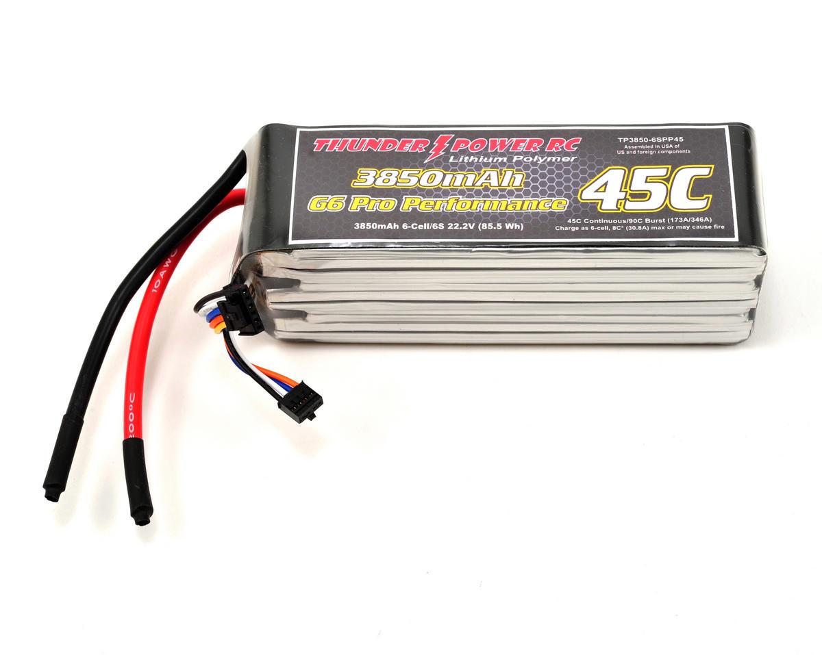 "Thunder Power Pro Performance ""G6"" 6S Li-Poly Battery 45C (22.2V/3850mAh)"