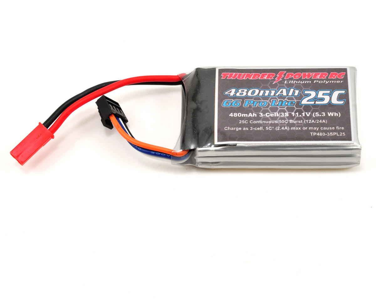 "Thunder Power Pro Lite ""G6"" 3S Li-Poly Battery 25C (11.1V/480mAh) (JST)"