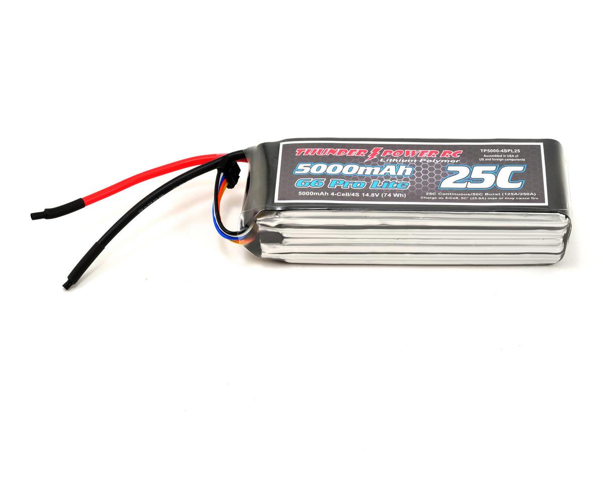 """Thunder Power Pro Lite """"G6"""" 4S Li-Poly Battery 25C (14.8V/5000mAh)"""