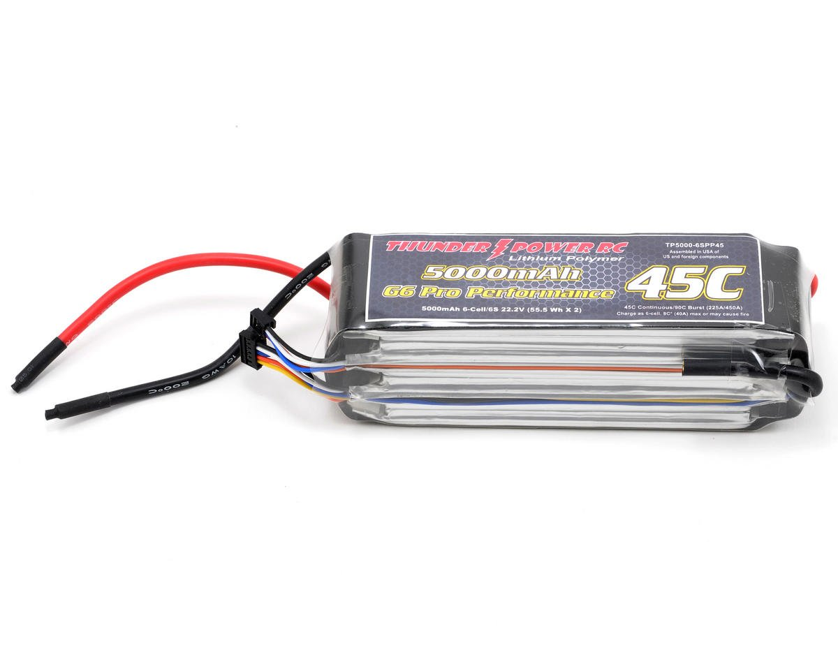 "Thunder Power Pro Performance ""G6"" 6S Li-Poly Battery 45C (22.2V/5000mAh)"