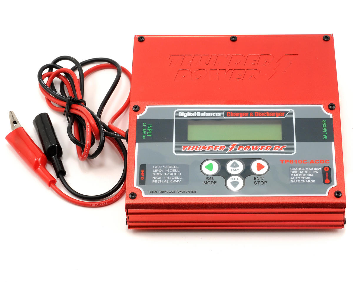 Thunder Power TP610C AC/DC 1-6 Cell LiPo Charger w/Balancer [THP610CACDC] |  Cars & Trucks