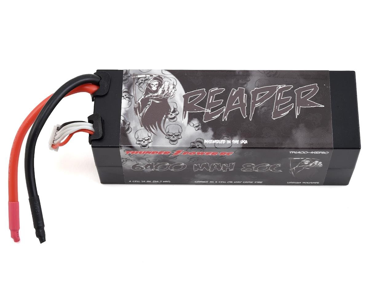 """Reaper"" 4S 80C Hard Case LiPo Battery (14.8V/6400mAh) by Thunder Power"