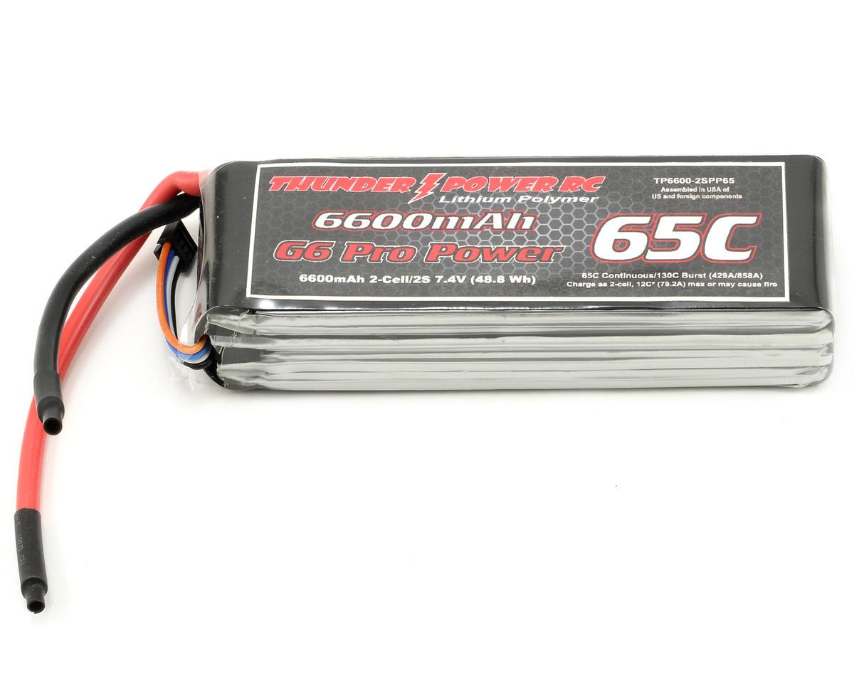 "Thunder Power Pro Power ""G6"" 2S Li-Poly Battery 65C (7.4V/6600mAh)"