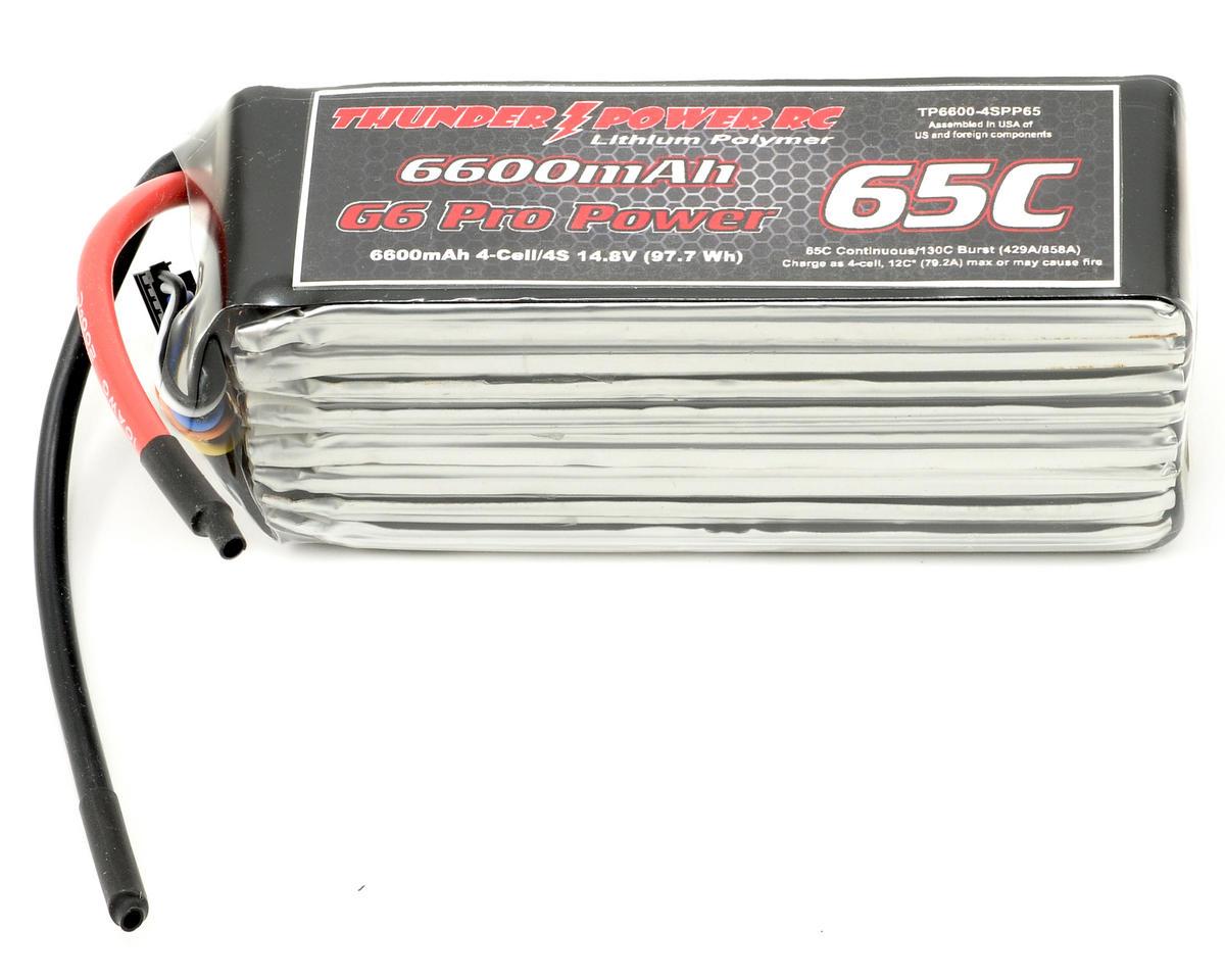 "Thunder Power Pro Power ""G6"" 4S Li-Poly Battery 65C (14.8V/6600mAh)"
