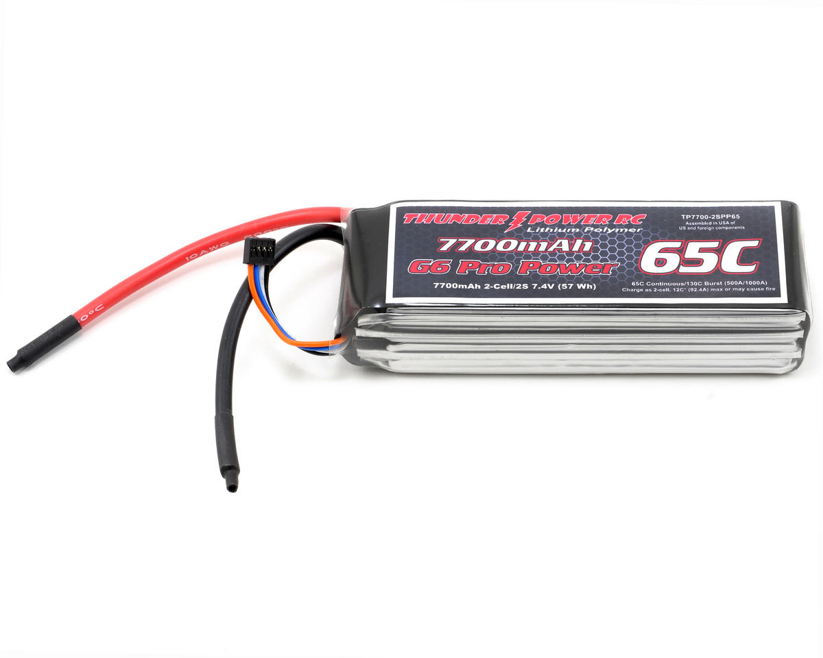 "Thunder Power Pro Power ""G6"" 2S Li-Poly Battery 65C (7.4V/7700mAh)"