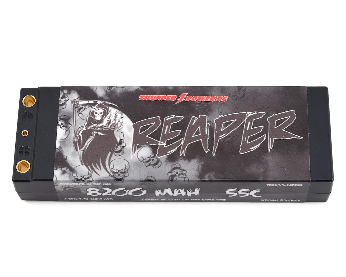 "Thunder Power ""Reaper"" 2S Basher 55C Hard Case LiPo Battery (7.4V/8200mAh)"