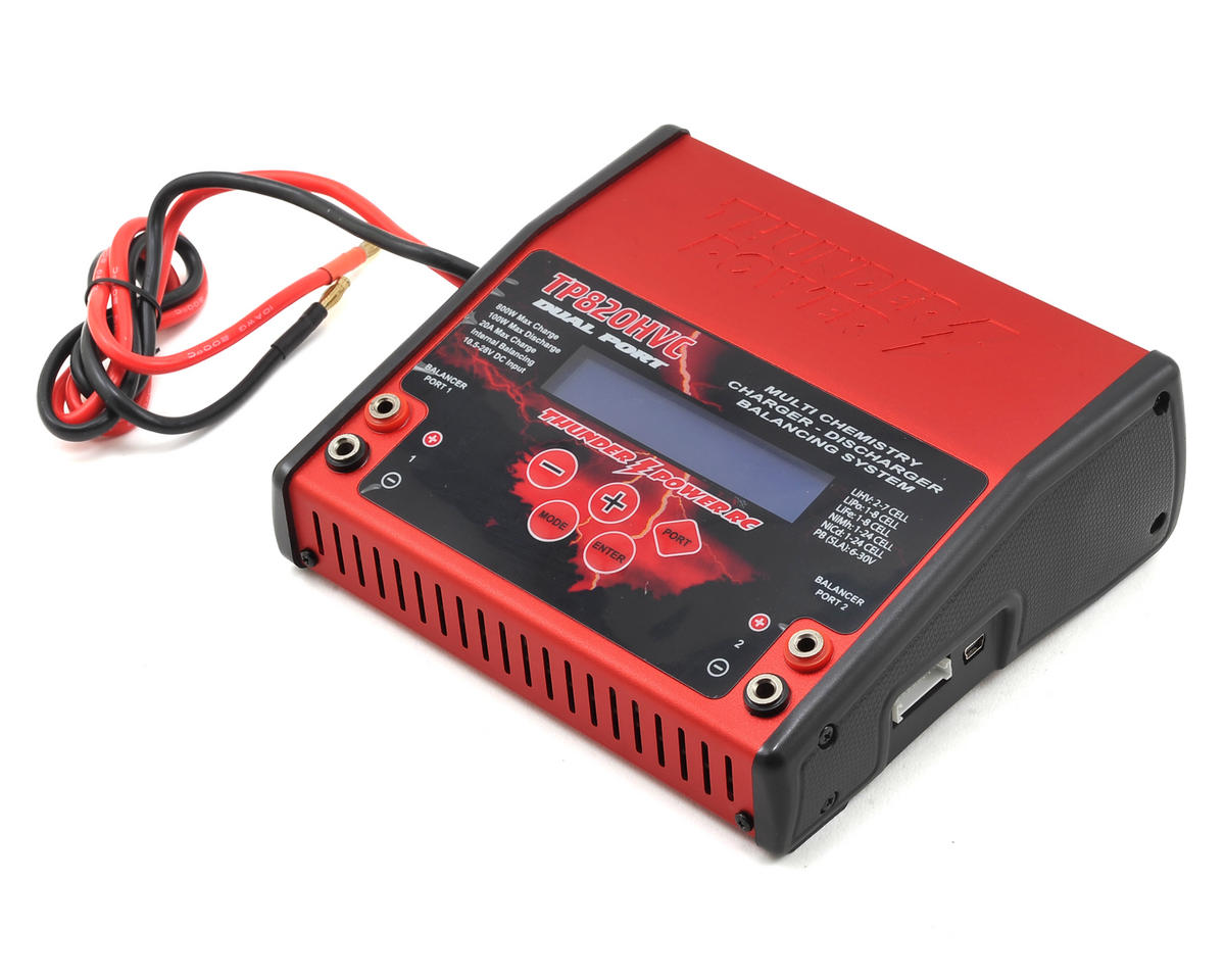 TP820HVC LiPo/LiHV Dual DC Battery Charger (8S/20A/400W x2) by Thunder Power