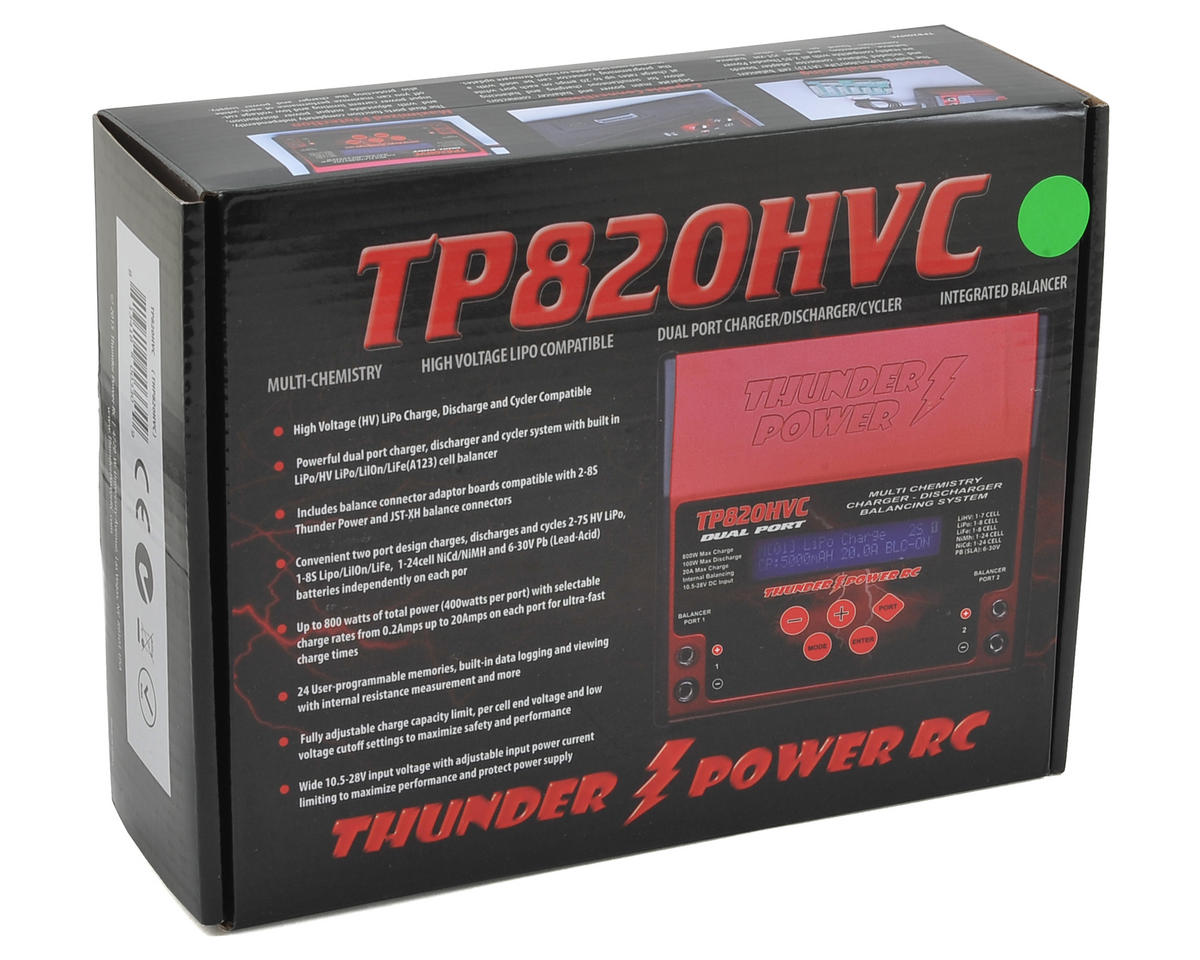 Thunder Power TP820HVC LiPo/LiHV Dual DC Battery Charger (8S/20A/400W x2)