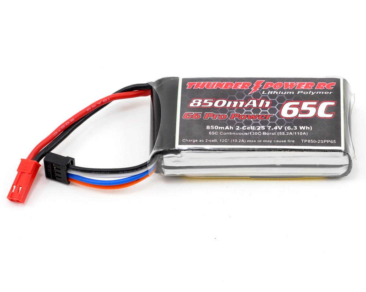 "Thunder Power Pro Power ""G6"" 2S Li-Poly Battery 65C (7.4V/850mAh)"