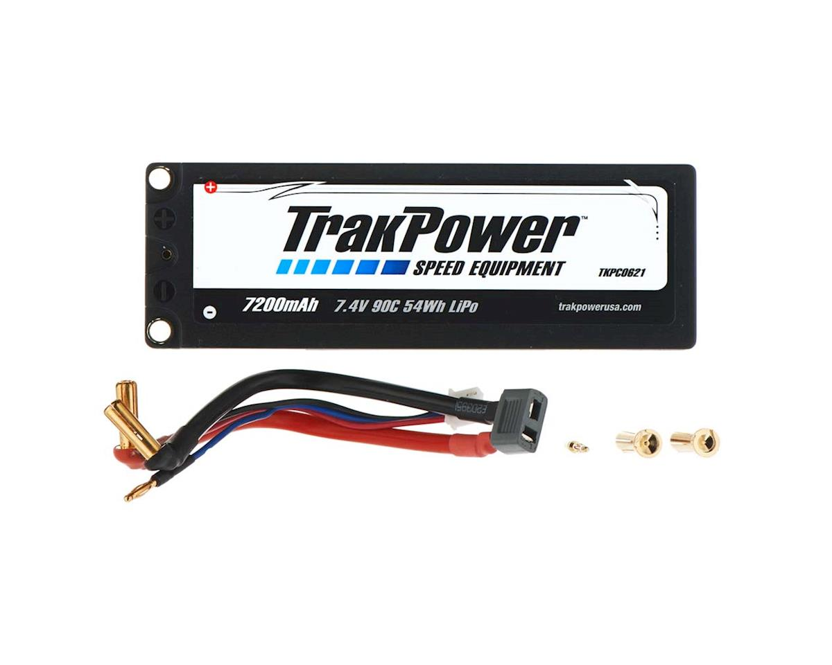 TrakPower LiPo 2S 7.4V 7200mAh 90C Hard Case 5mm