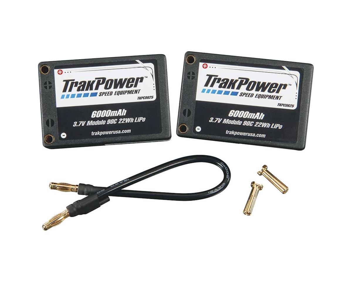 TrakPower LiPo 2S 7.4V 6000mAh 90C Hard Case Saddle