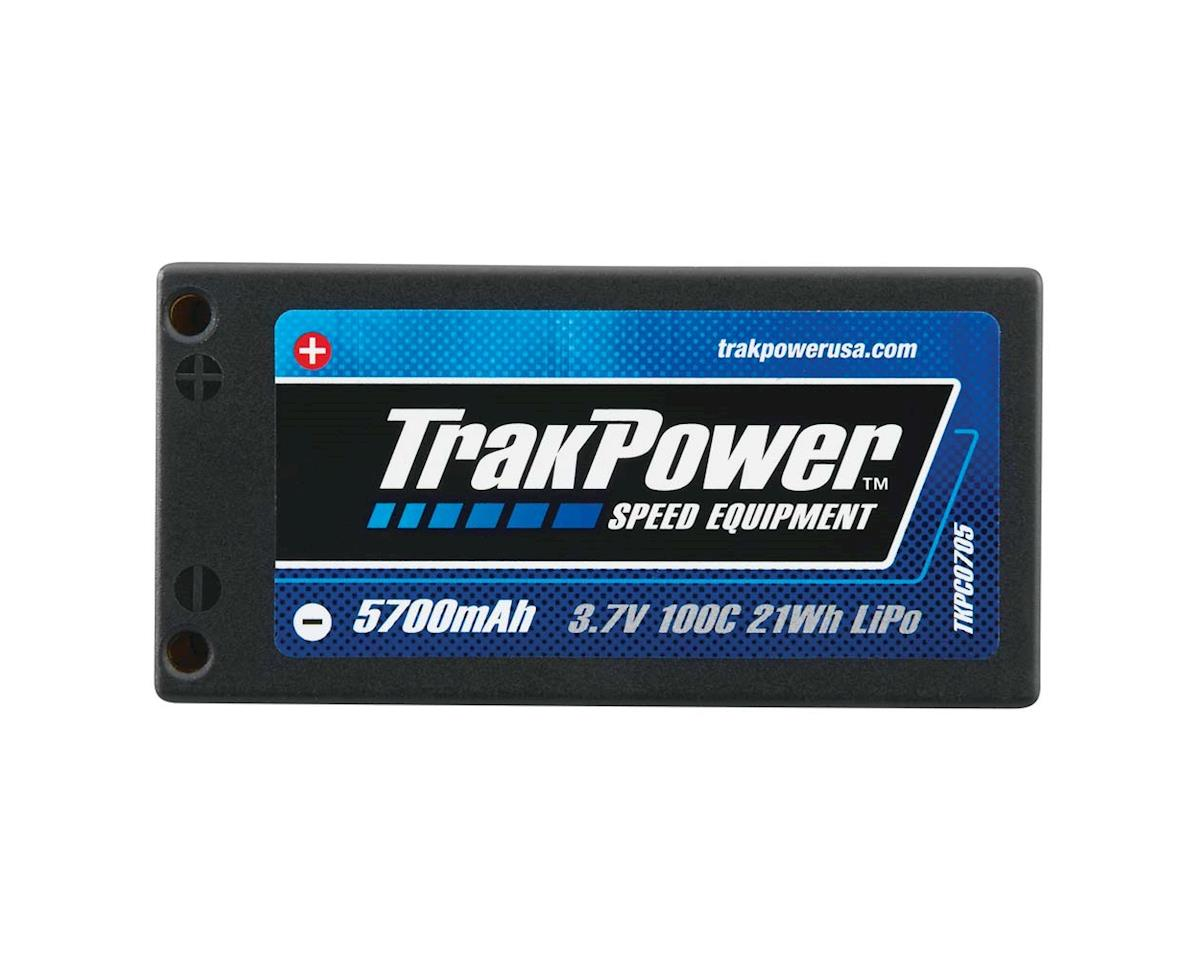 TrakPower LiPo 1S 3.7V 5700mAh 100C Hard Case 4mm