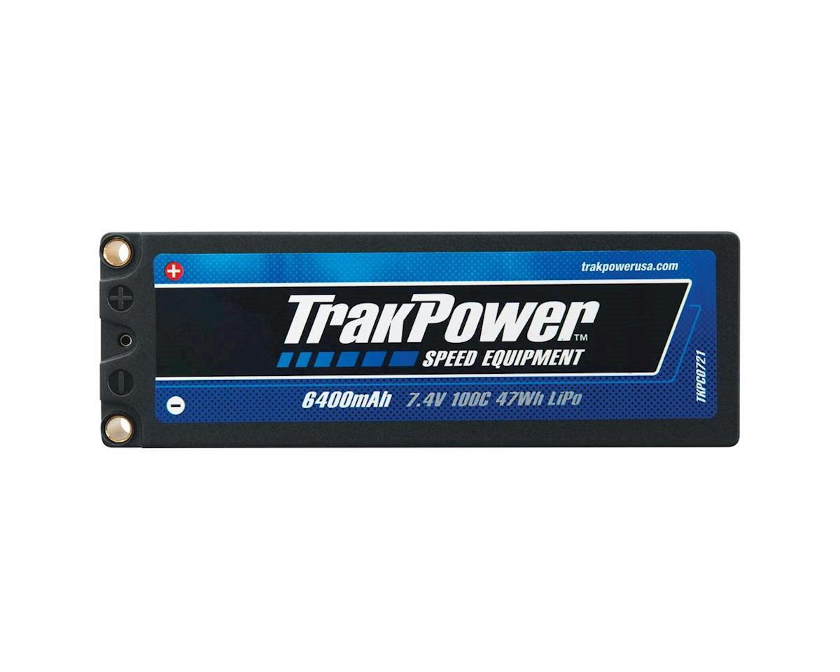 TrakPower LiPo 2S 7.4V 6400mAh 100C Hard Case 5mm
