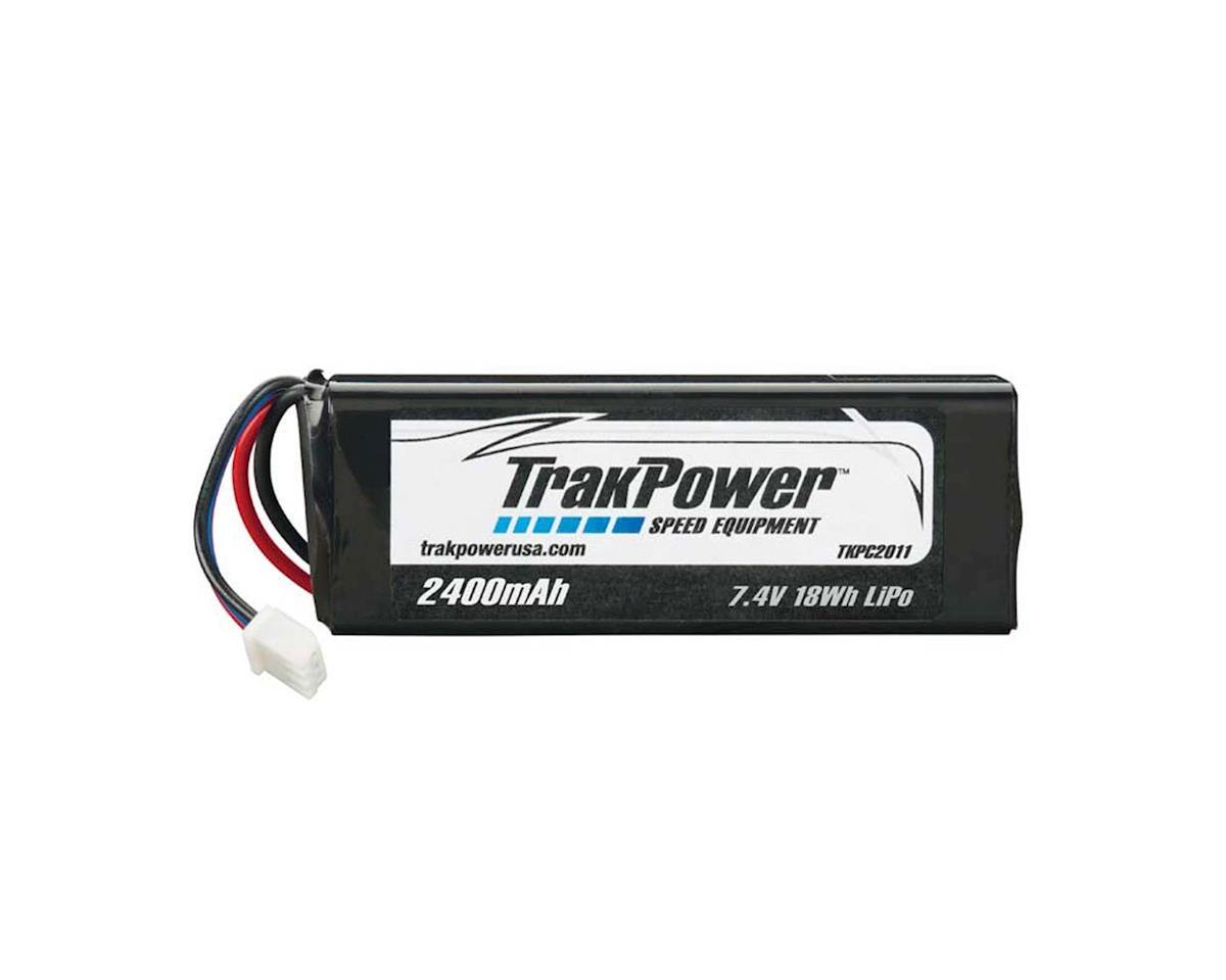 TrakPower LiPo 2S 7.4V 2400mAh Rx Pack Flat w/Universal