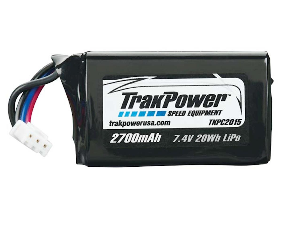 TrakPower LiPo 2S 7.4V 2700mAh Rx Pack Hump w/Universal