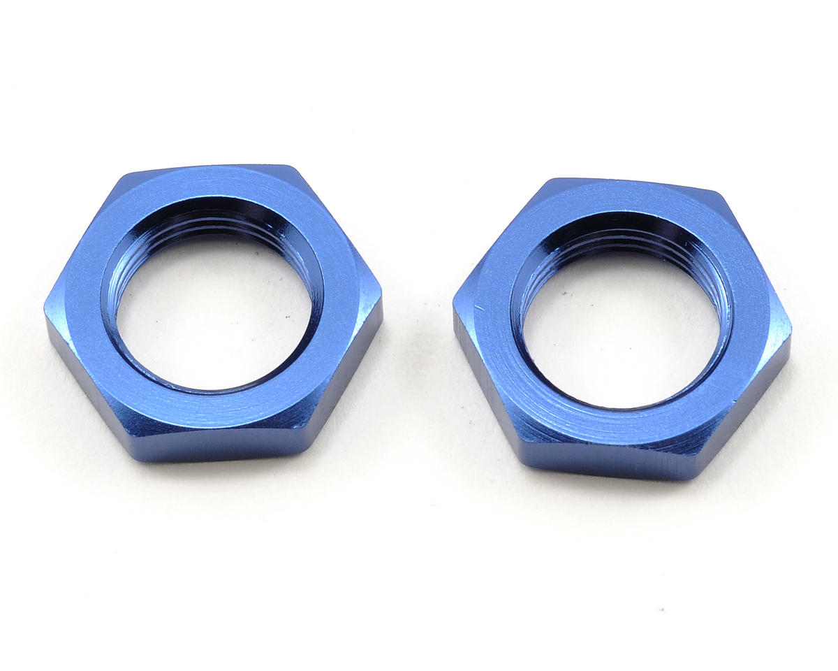 Tekno RC 17mm Fine Thread Aluminum Hex Nut Set (Blue) (2)