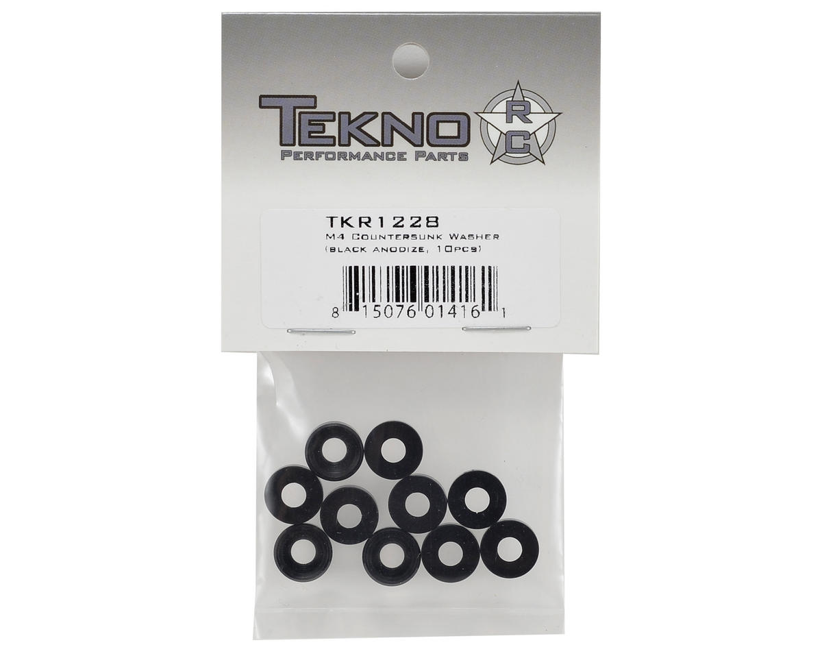 Tekno RC M4 Countersunk Washer (Black) (10)