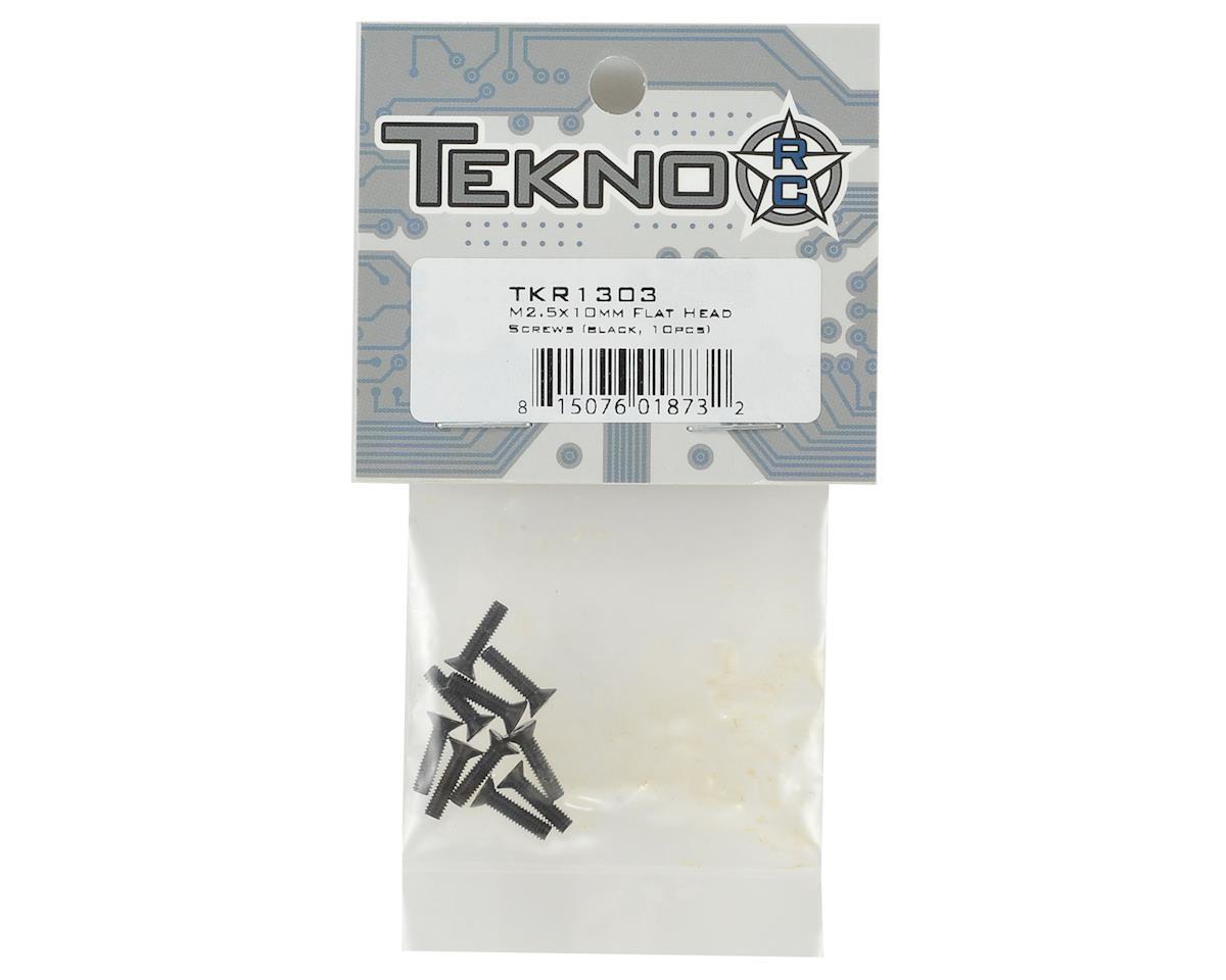 Tekno RC 2.5x10mm Flat Head Screws (10)