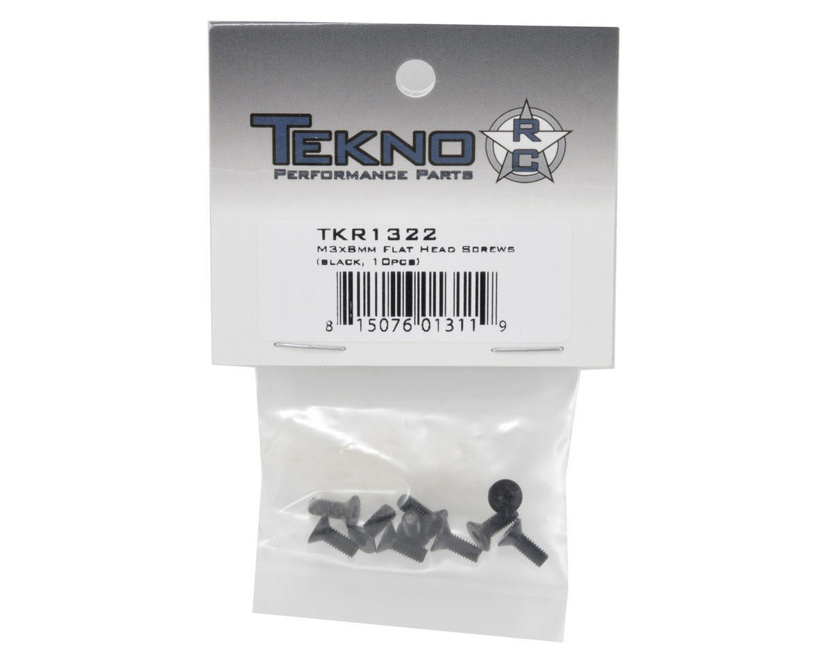 3x8mm Flat Head Screw (10) by Tekno RC