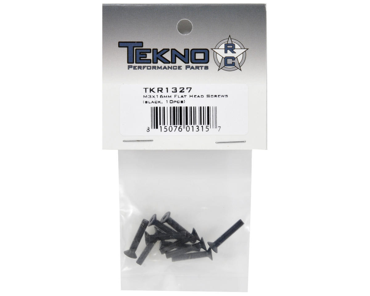 Tekno RC 3x16mm Flat Head Screw (10)