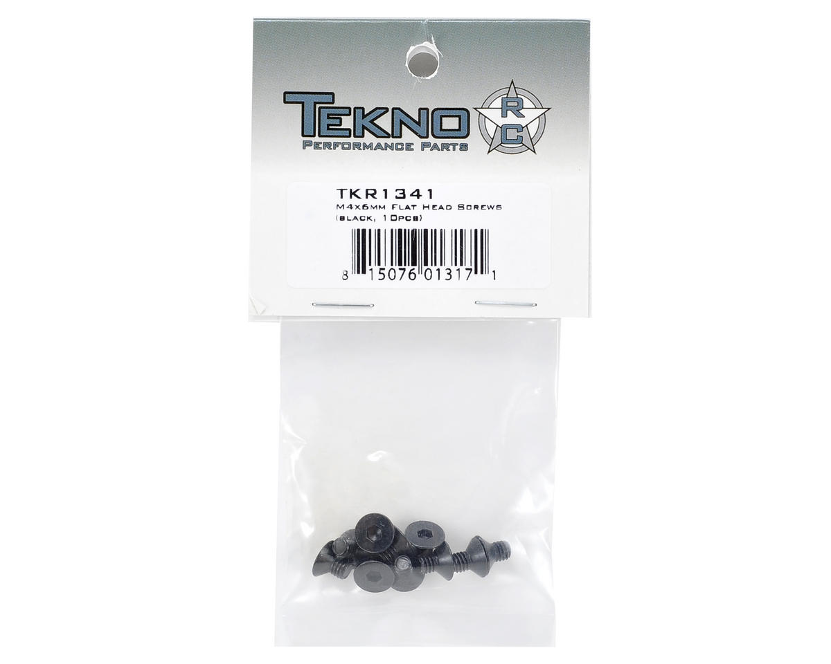 Tekno RC 4x6mm Flat Head Screw (10)