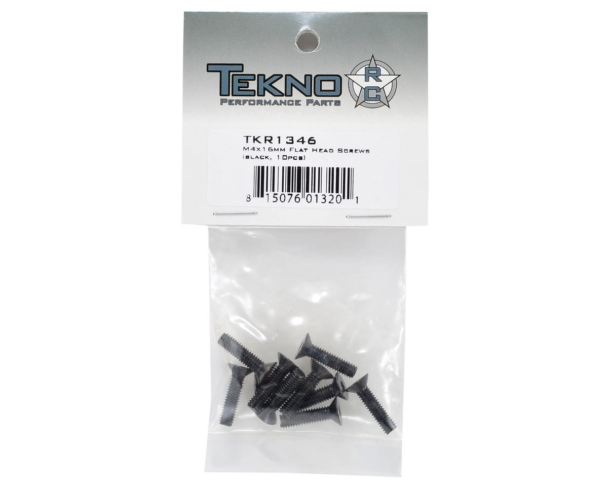 Tekno RC 4x15mm Flat Head Screw (10)