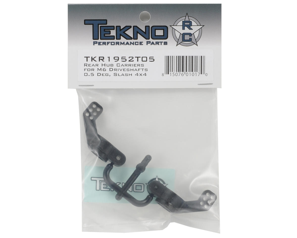 Nylon 0.5° M6 Driveshaft Rear Hub Carrier Set (2) (Left/Right) by Tekno RC