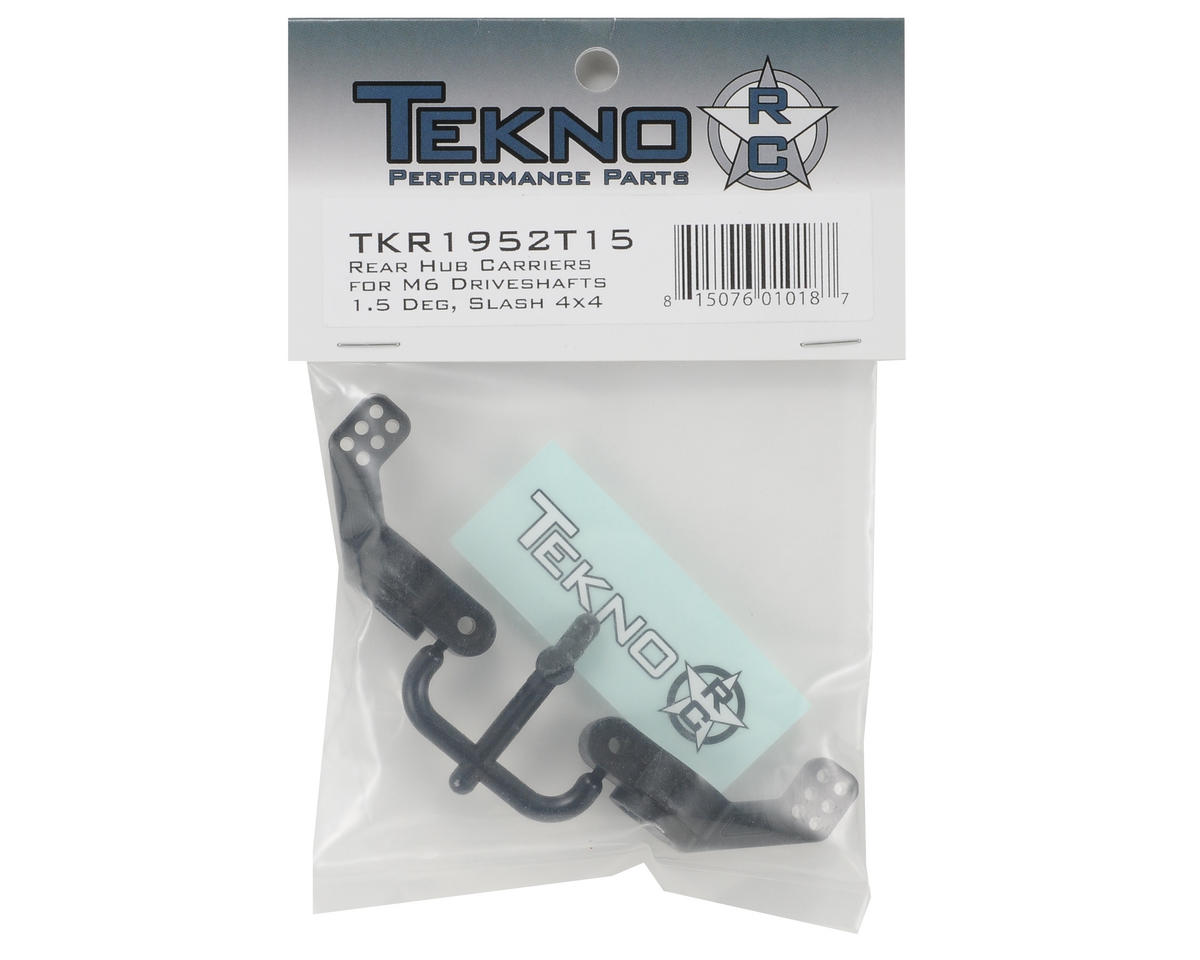 Tekno RC Nylon 1.5° M6 Driveshaft Rear Hub Carrier Set (2) (Left/Right)