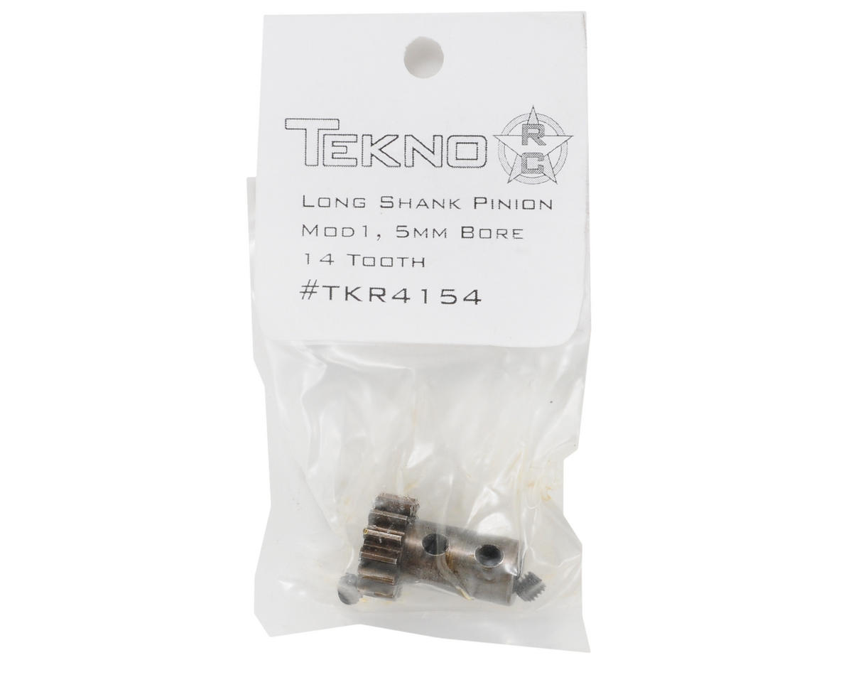 5mm Bore Hardened Steel Long Shank Mod 1 Pinion Gear (14T) by Tekno RC